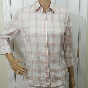 Burberry London Nova Plaid Button Down  Shirt